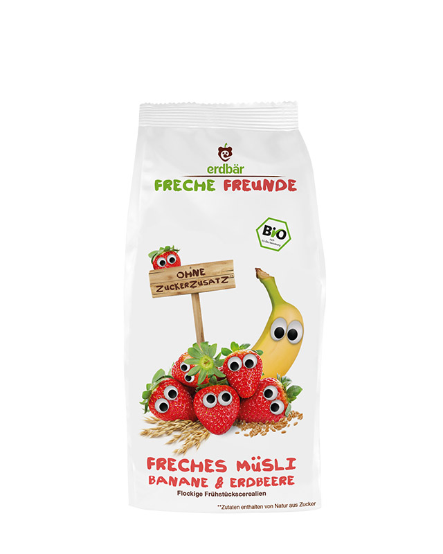 Fruity Breakfast Cereal - Banana & Strawberry (200gr.) by Freche Freunde | Midway